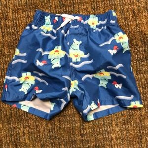 Gymboree Hippo swim trunks